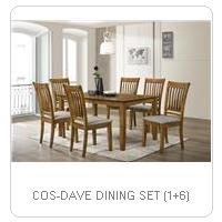COS-DAVE DINING SET (1+6)